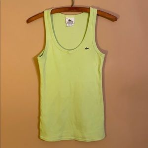 Lacoste Green 100% Cotton Tank Top